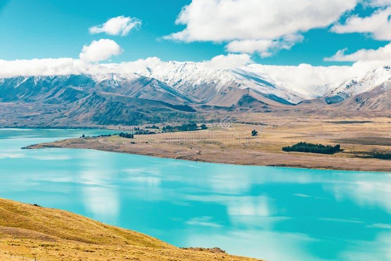 Vue de lac Tekapo de bâti John, NZ images libres de droits