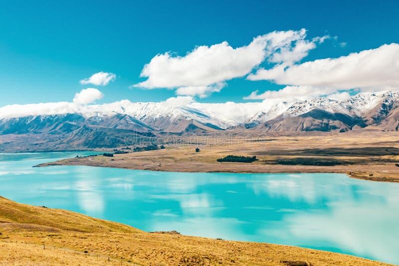 Vue de lac Tekapo de bâti John, NZ photo stock