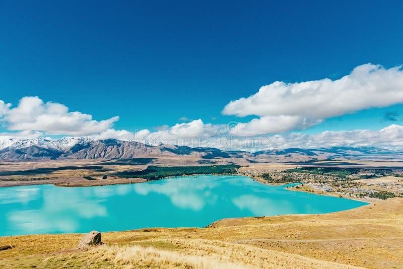 Vue de lac Tekapo de bâti John, NZ image stock