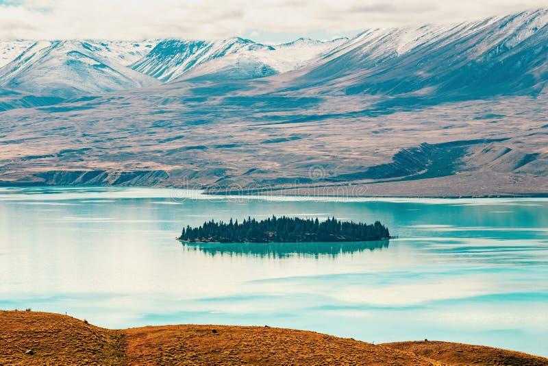 Vue de lac Tekapo de bâti John, NZ photos libres de droits