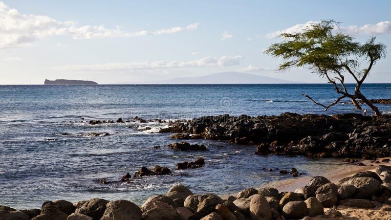Vue de Lanai et de Molokini image stock