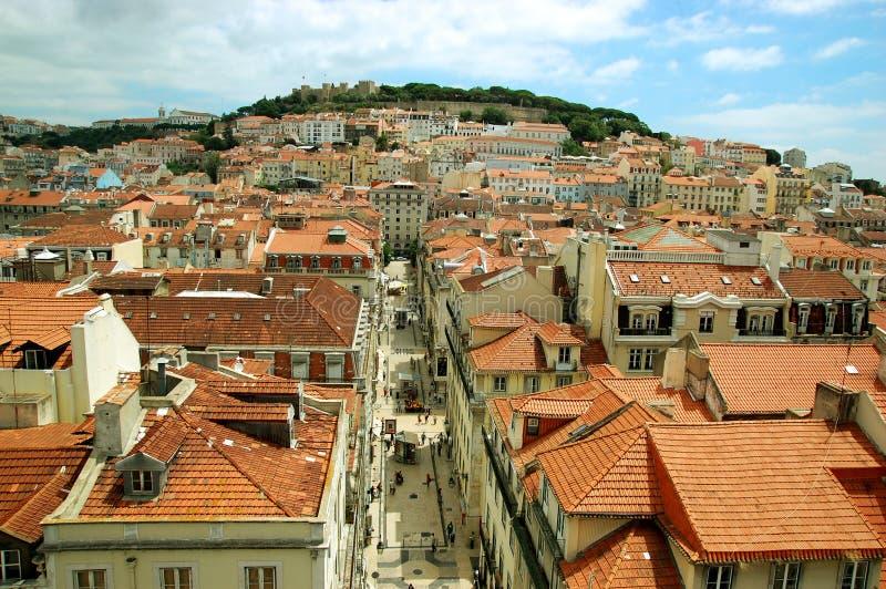 Vue de Lisbonne image libre de droits