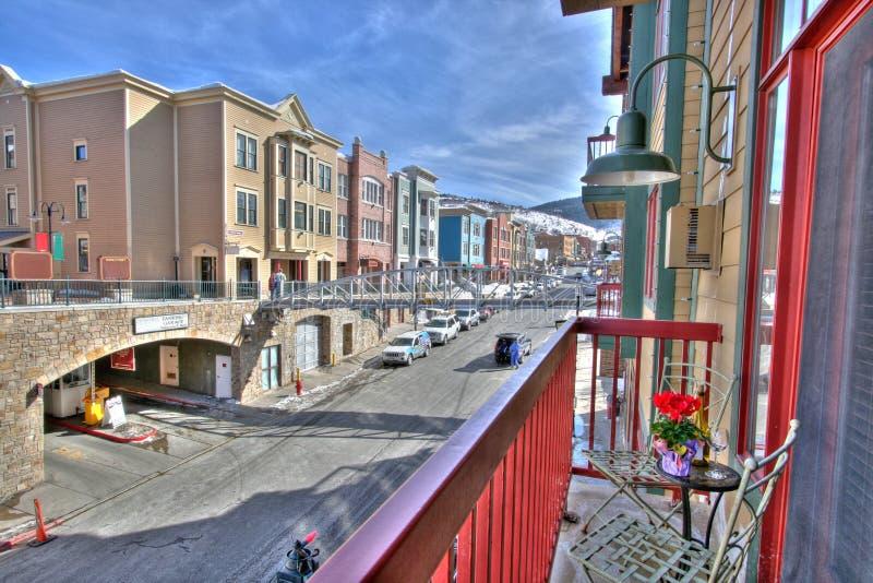 Vue de logement de rue principale photographie stock