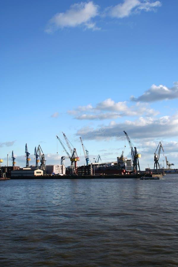 Vue de logistique au port - serie image libre de droits