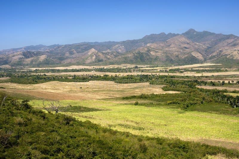 Vue de Loma del Puerto près du Trinidad, Cuba images libres de droits