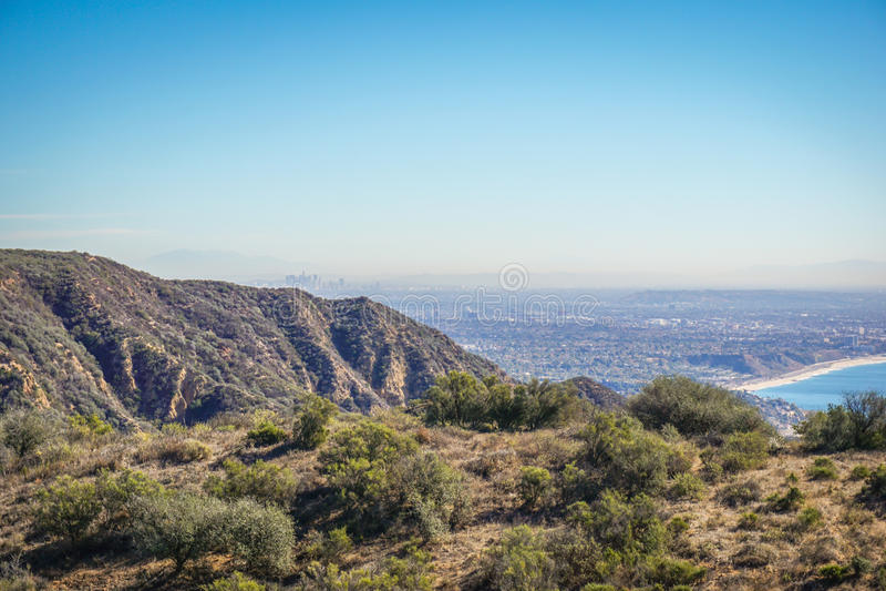 Vue de Los Angeles de Santa Monica Conservancy photos stock