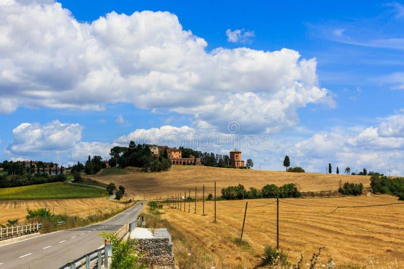 Vue de Lucignano Darbia dans la région toscane San Quirico d Orci photo stock