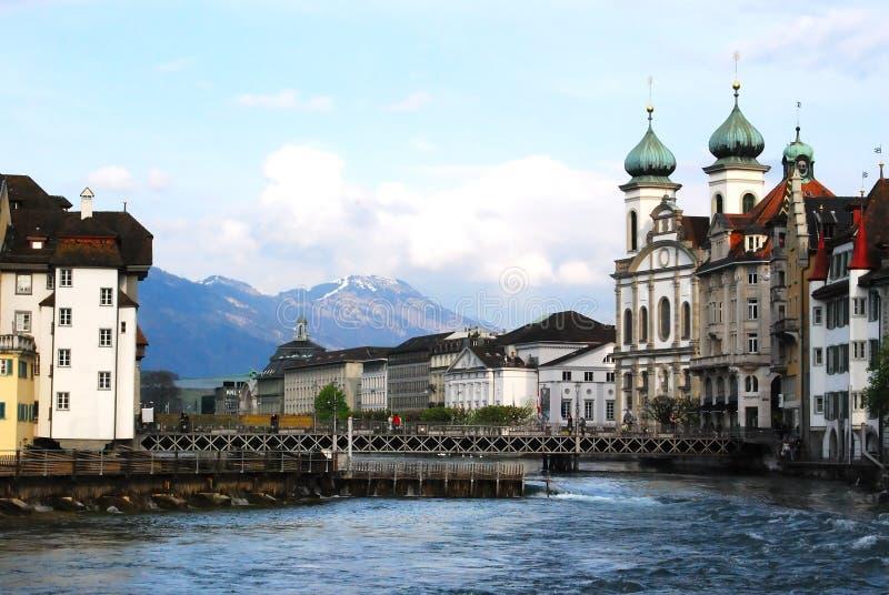 Vue de Luzerne images libres de droits