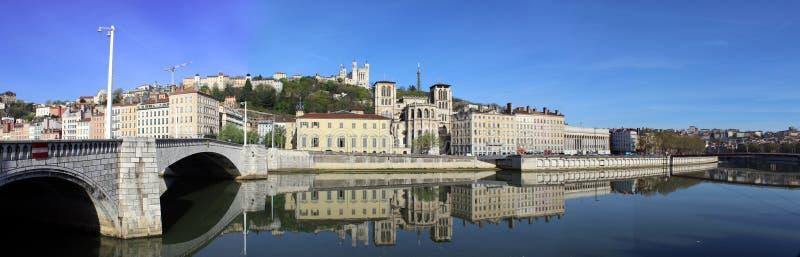 Vue de Lyon image libre de droits