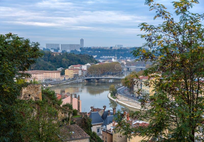 Vue de Lyon - France, le Rhône-Alpes photo stock