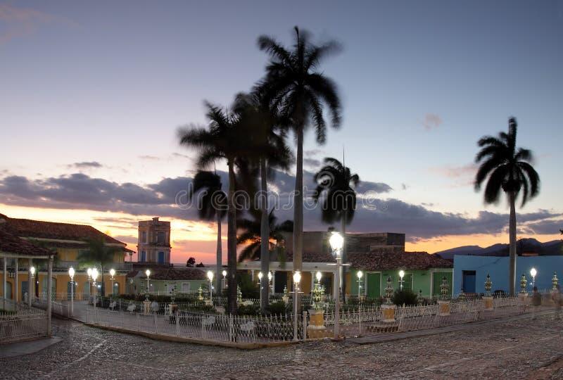 Vue de maire de plaza au Cuba, Trinidad image libre de droits