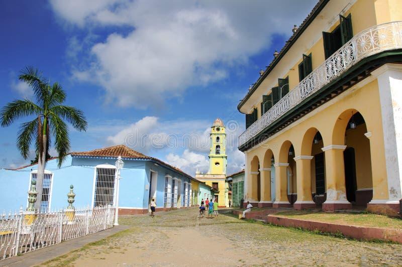 Vue de maire de plaza au Trinidad. Le Cuba. OCTOBRE 2008 photo stock