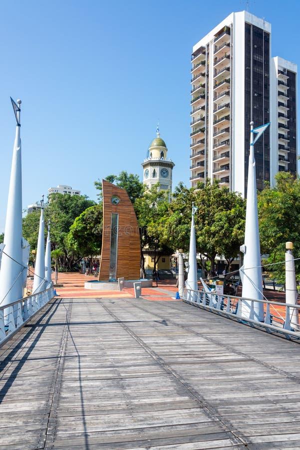 Vue de Malecon 2000 à Guayaquil photo libre de droits