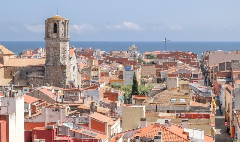 Vue de Malgrat Del Mar, Espagne photos libres de droits