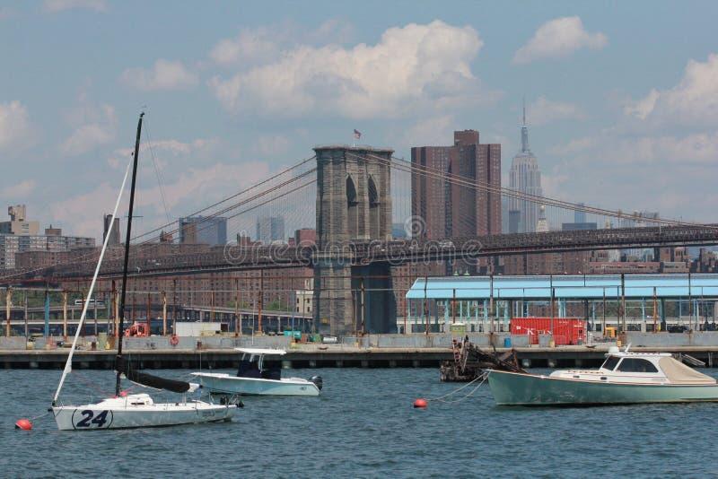 Vue de Manhattan de promenade de Brooklyn Heights photos libres de droits