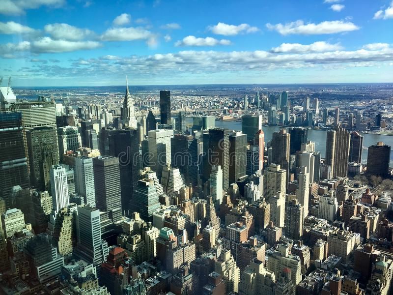 Vue de Manhattan de l'Empire State Building photographie stock libre de droits