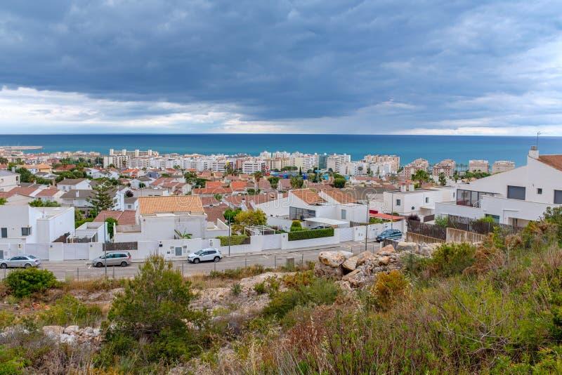 Vue de Mas Mel près de Barcelone image stock