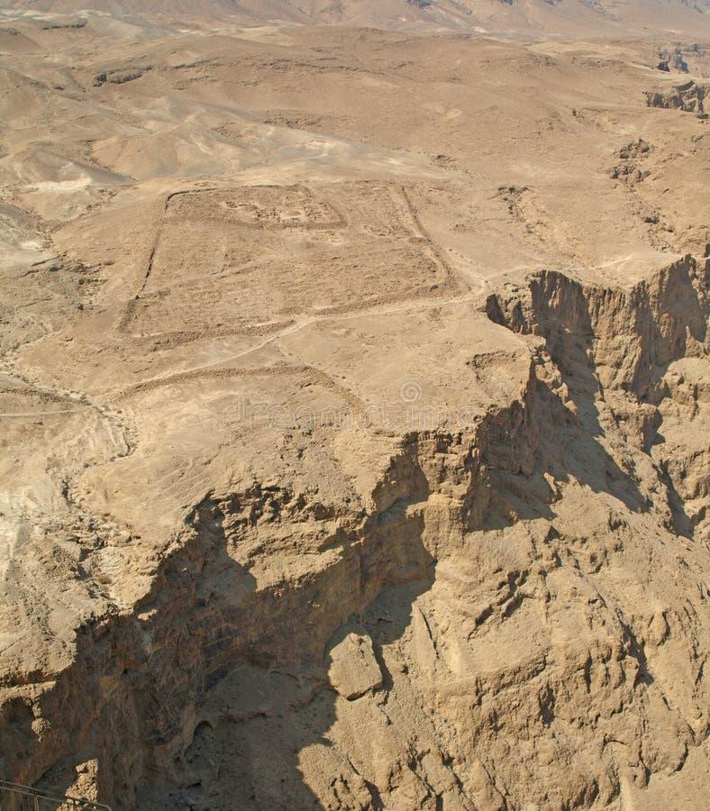 Vue de Masada photo libre de droits