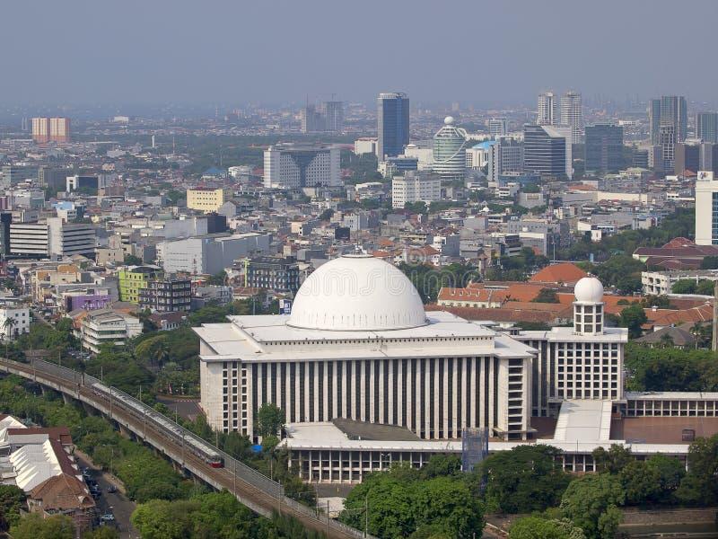 Vue de Masjid Istiqlal photos libres de droits