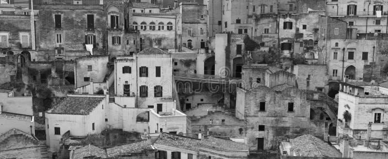 Vue de Matera antique, ville de caverne Balsilicata photo libre de droits