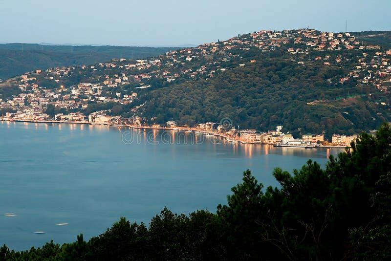 Vue de matin de Bosphorus photo stock