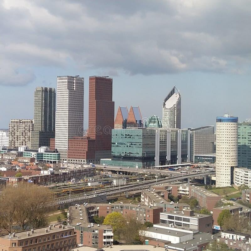 Vue de matin de la Haye d'horizon photo libre de droits