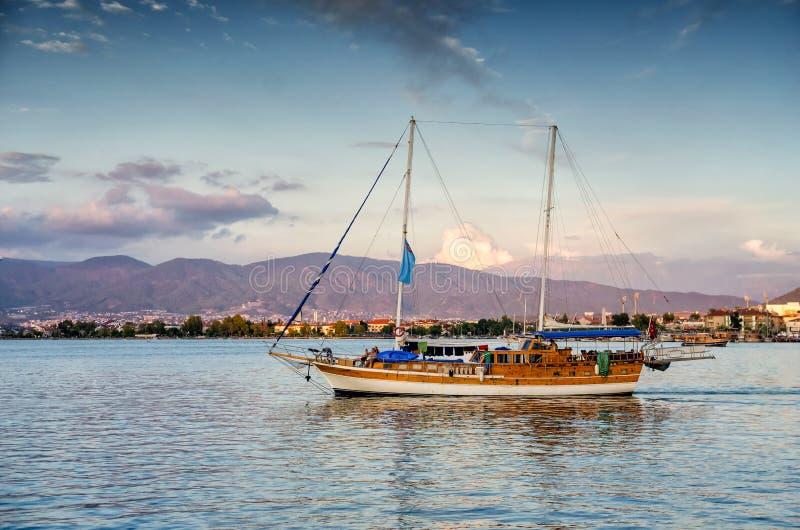 Vue de mer Égée près de Marmaris, Turquie photographie stock libre de droits