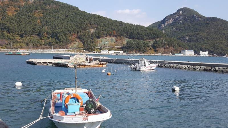 Vue de mer de Busan image libre de droits