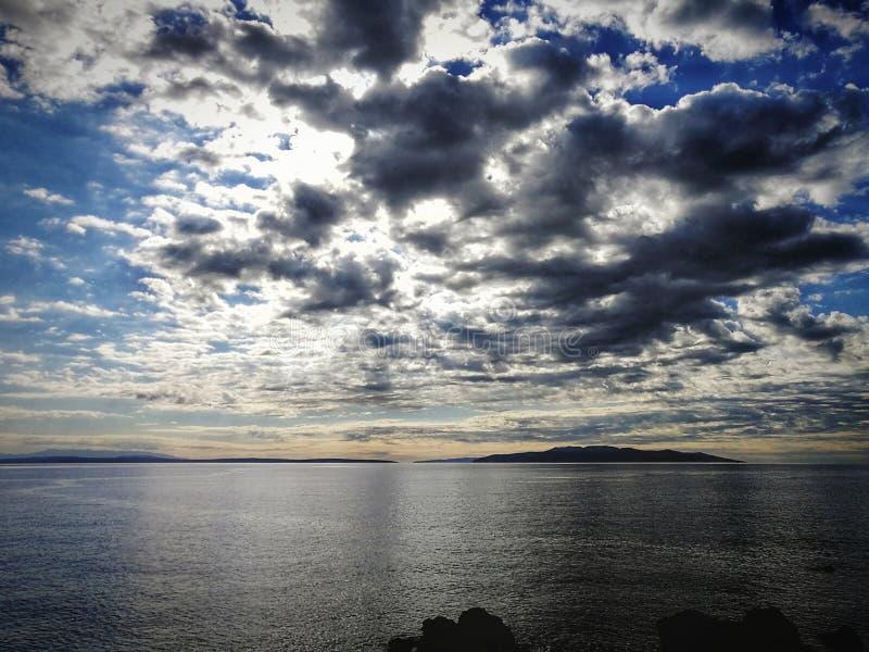 Vue de mer dans Opatija, Croatie images libres de droits