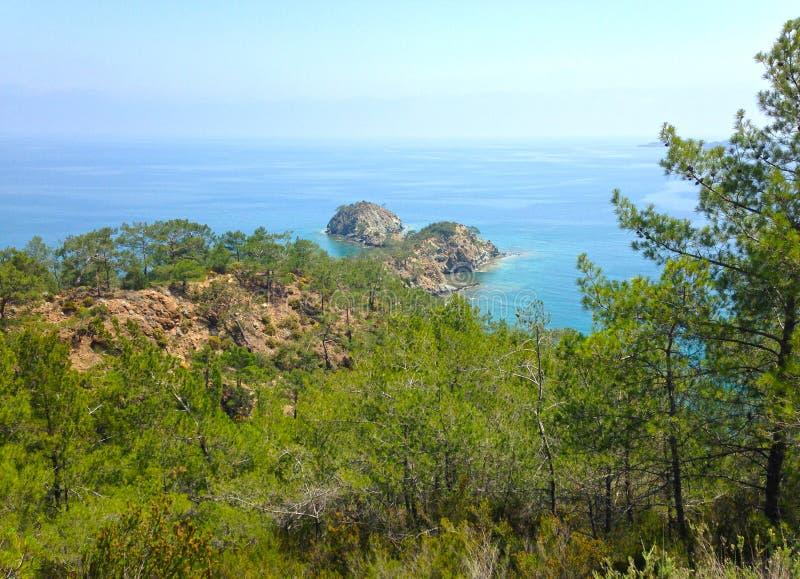 Vue de mer près de Cirali photo libre de droits