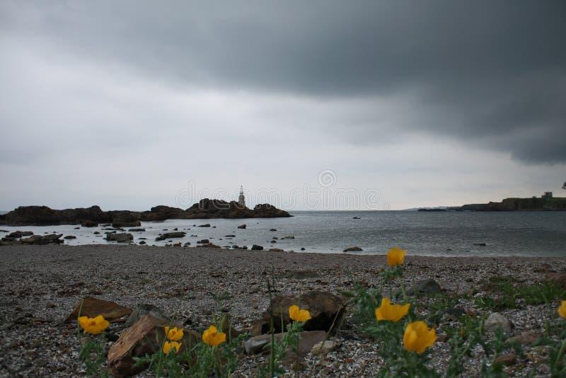 Vue de mer de ressort dans Ahtopol photos libres de droits