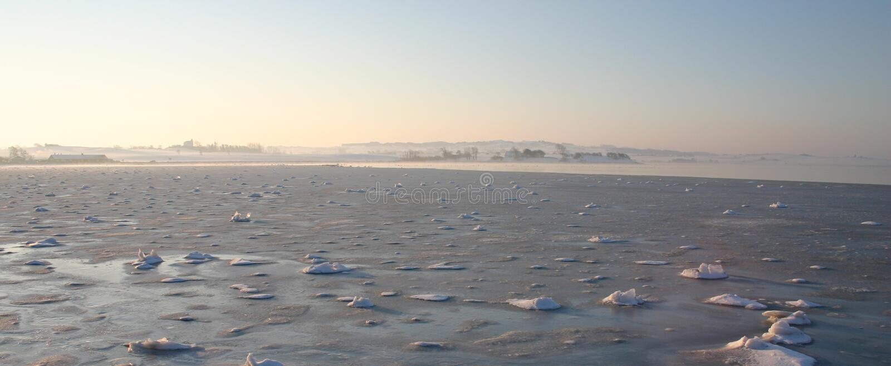Vue de mer, saison de l'hiver photos stock