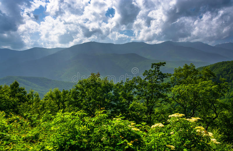 Vue de midi des Appalaches de Ridge Pa bleu photo libre de droits