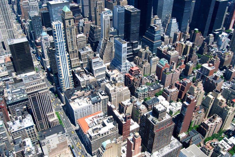 Vue de Midtown de New York City Manhattan avec des gratte-ciel, New York City photographie stock