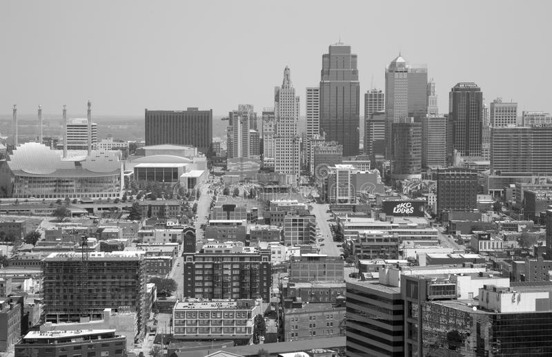 Vue de Midwest Etats-Unis d'état du Kansas Missouri de ville photographie stock