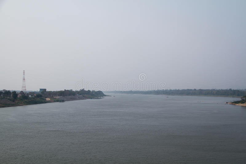Vue de moi rivière de Khong photos libres de droits
