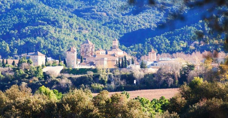 Vue de monastère de Poblet image libre de droits