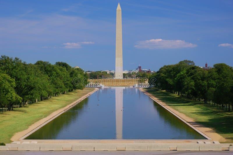 Vue de monument de Washington sans gens photo stock