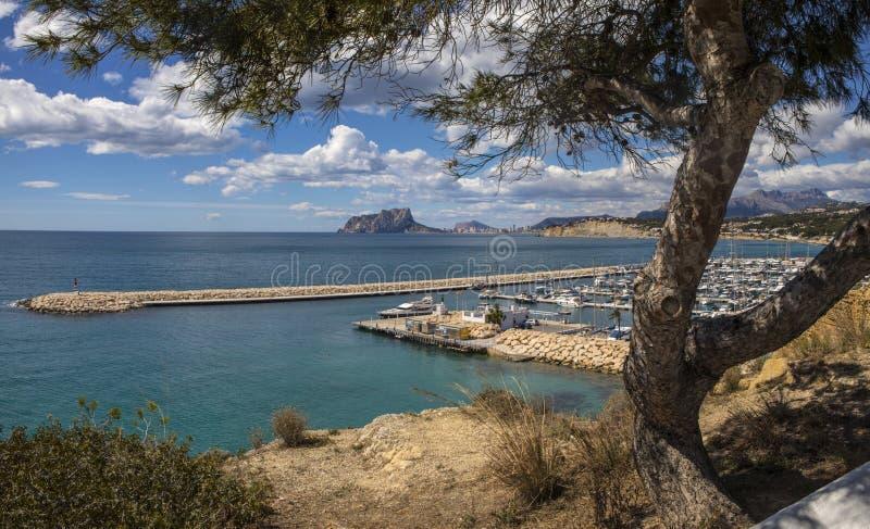 Vue de Moraira en Espagne photo libre de droits