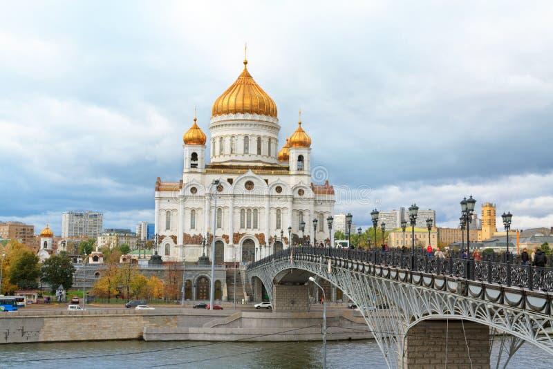 Vue de Moscou avec la cathédrale du Christ le sauveur photos libres de droits