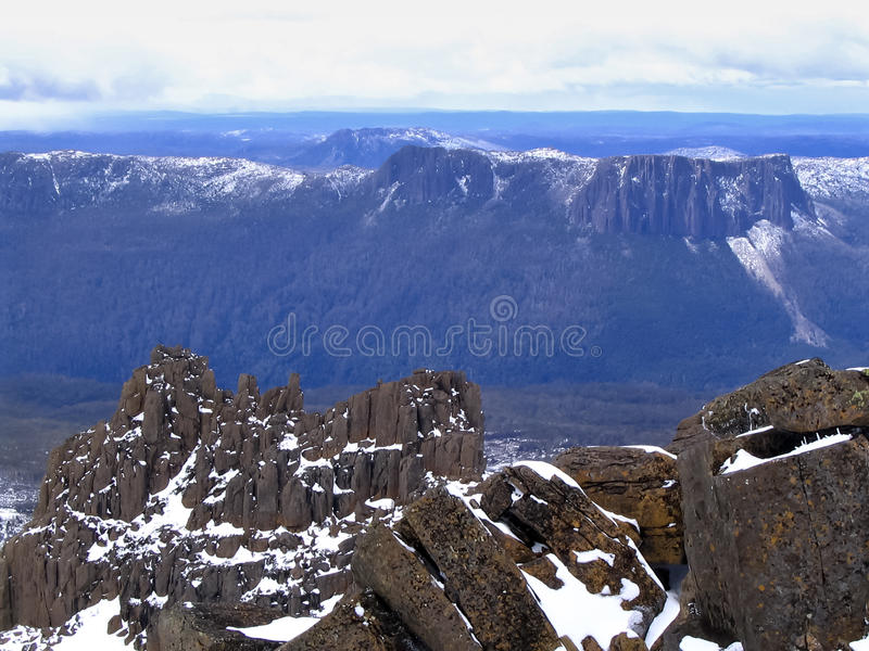 Vue de Mt Ossa images libres de droits
