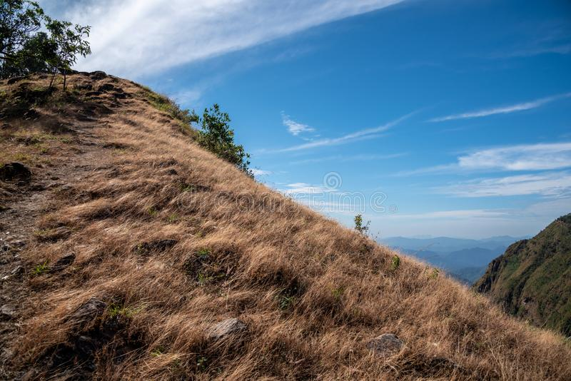 Vue de nature de paysage de montagne d'été dans du nord de la Thaïlande images stock