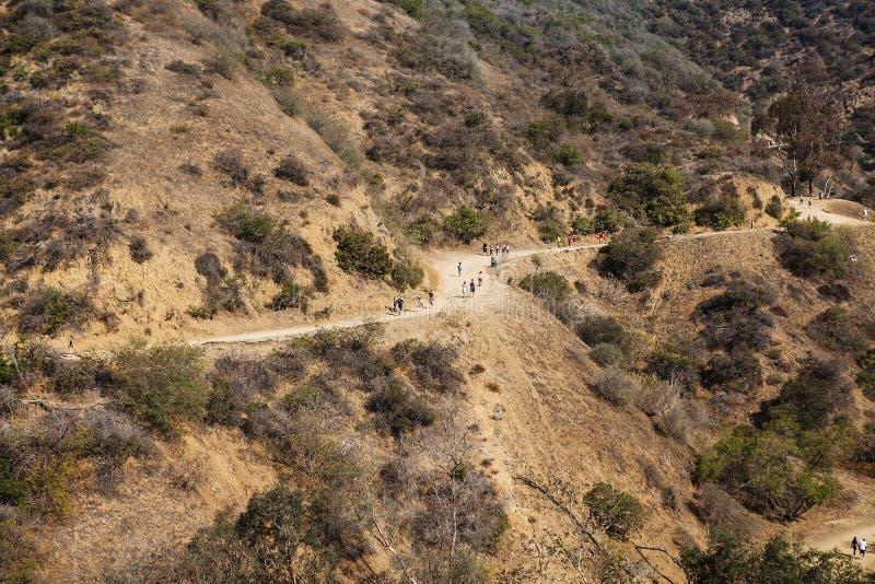 Vue de naturel en montagnes, runyon de Los Angeles photos libres de droits