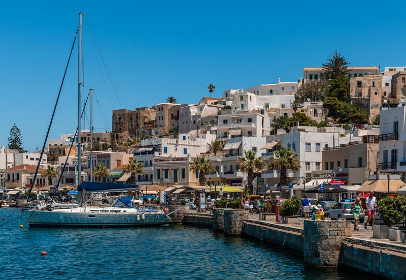 Vue de Naxos, Grèce image libre de droits