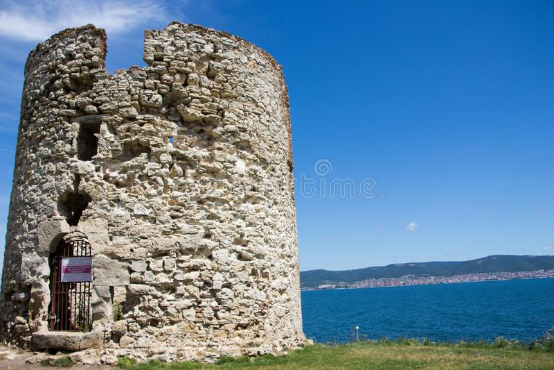 Vue de Nessebar bulgaria photo stock