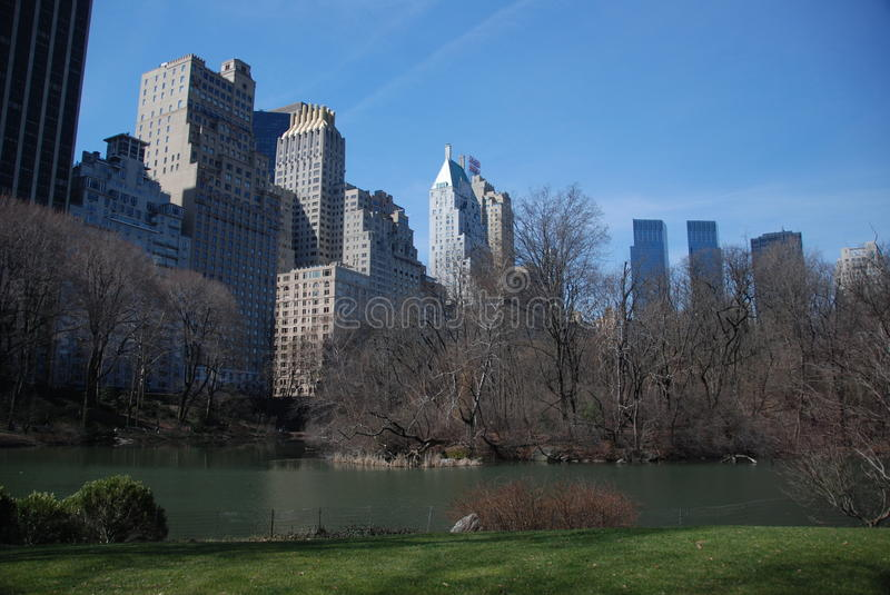 Vue de New York de Central Park image stock