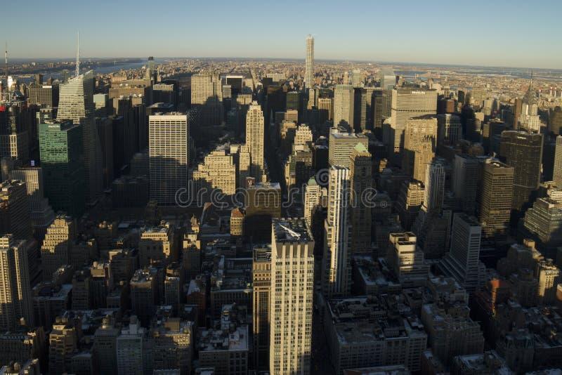 Vue de nord de New York City image libre de droits