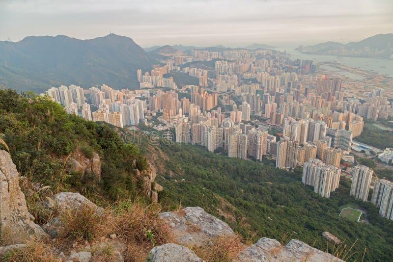 Vue de nouveau Kowloon en Hong Kong photo libre de droits