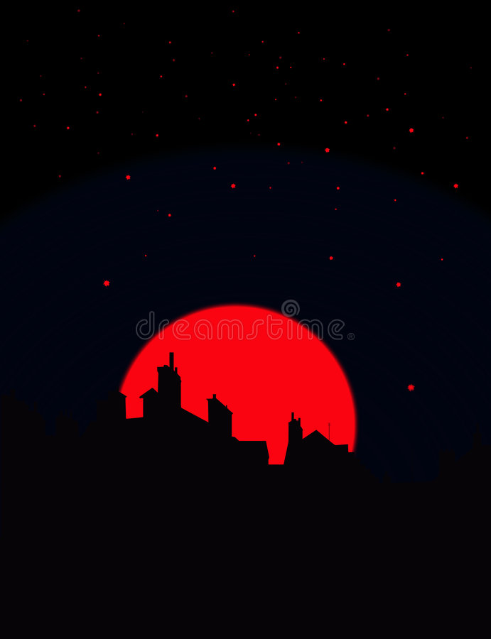 Vue de nuit illustration de vecteur