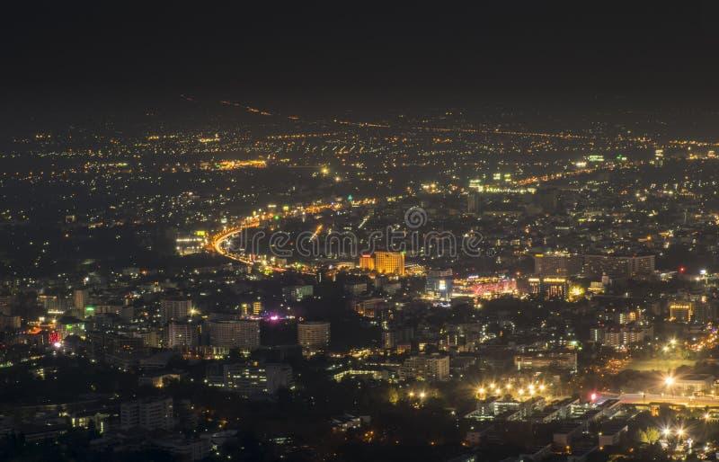 Vue de nuit au paysage de ville photo libre de droits